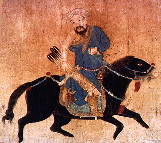 Traditional felting - Mongolian archer in a potentially felted saddle
