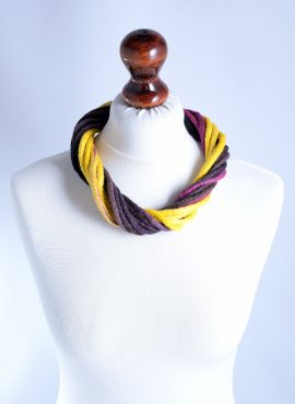 Modern rope necklace