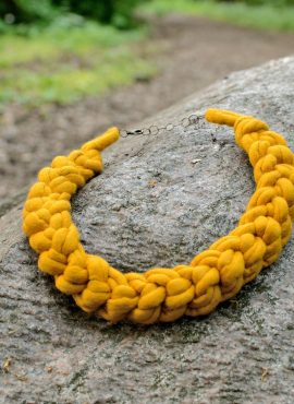 Felted crochet necklace