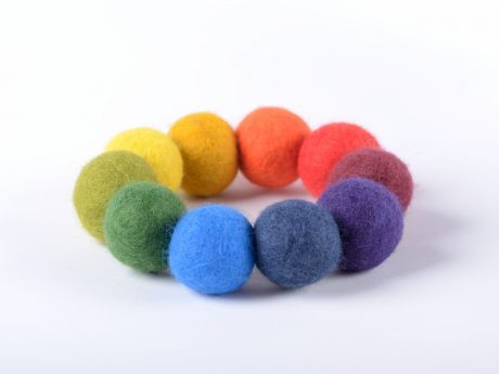Colorful felt bead bracelet