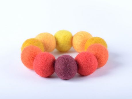 Felt bead bracelet made of felted balls