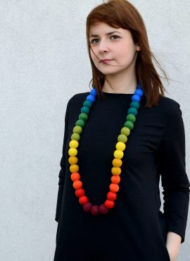 Felt bead necklace
