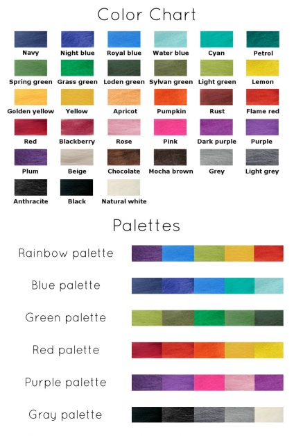 Wool colors and palettes