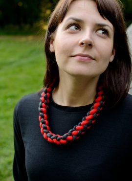 Felt crochet necklace in casual style