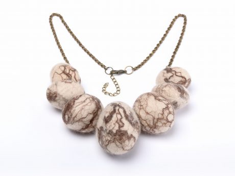 Natural necklace with wool stones