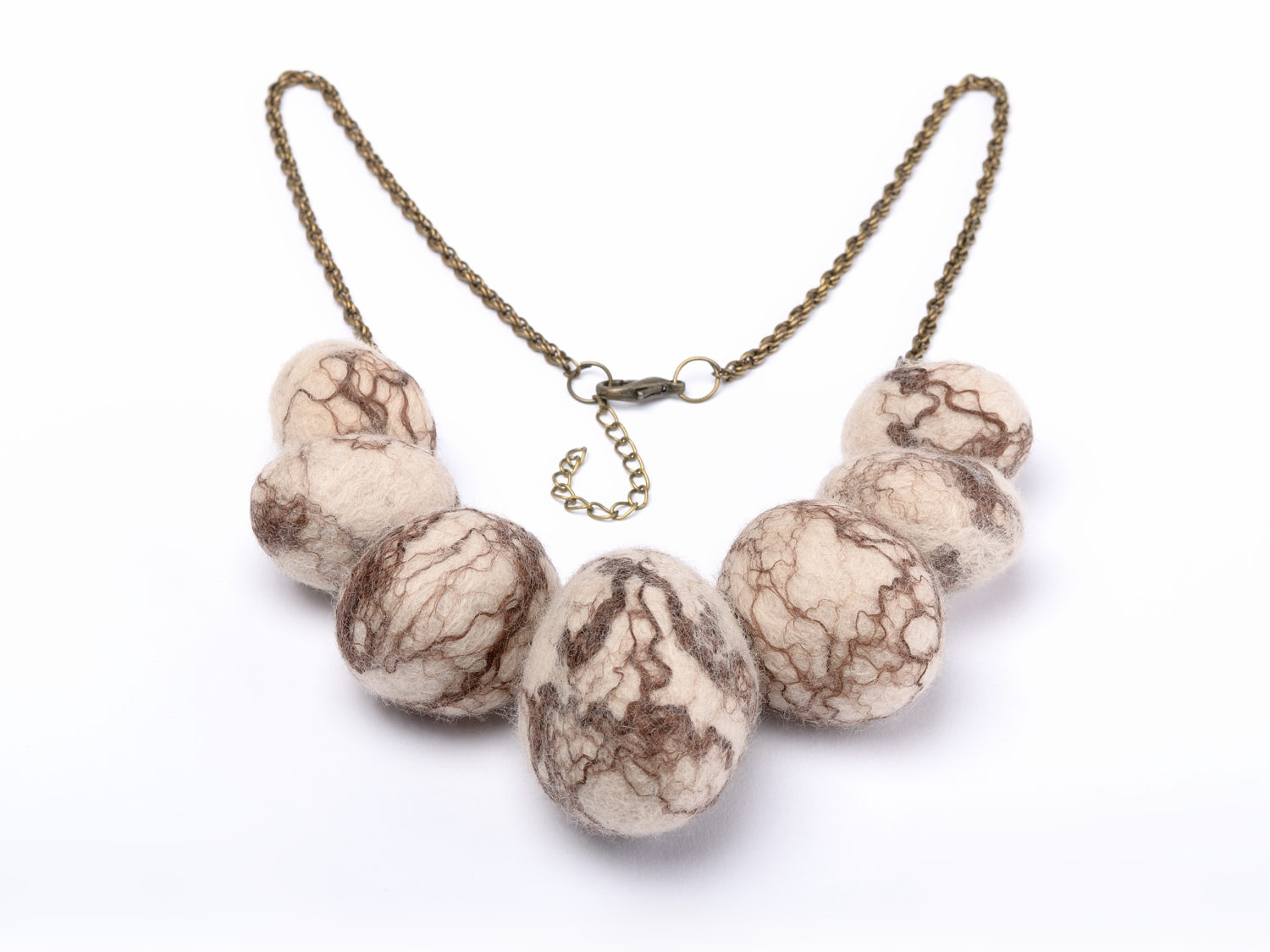 stones with necklace wool natural felt stone product