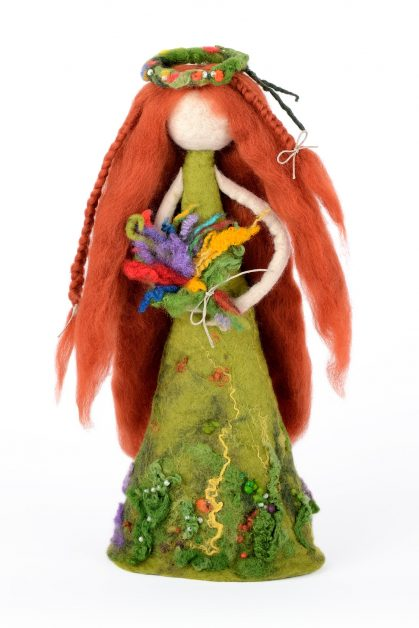 Felted forest fairy figurine
