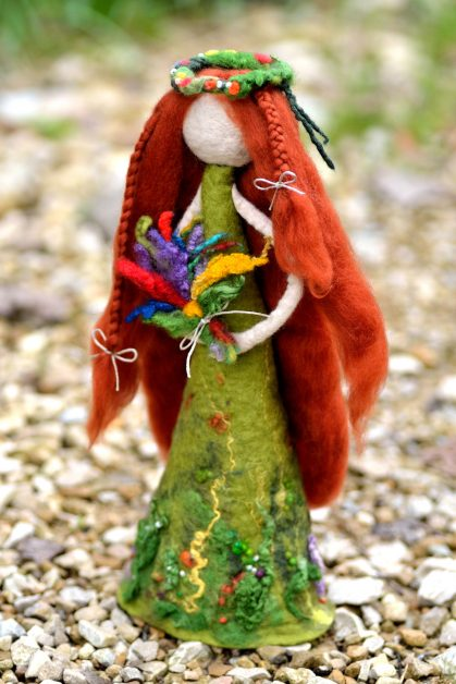 Felted home decor figurine