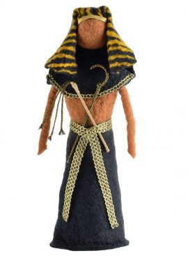 Felted pharaoh figurine for office and home