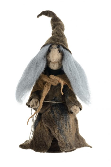 Handmade witch figurine
