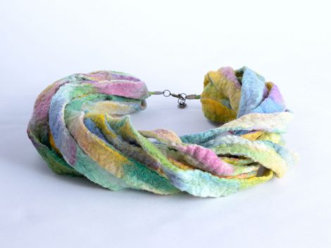 Pale pastel necklace with multistrand design