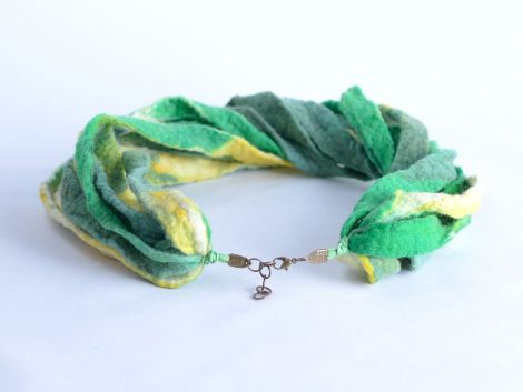 Stylish green and yellow necklace