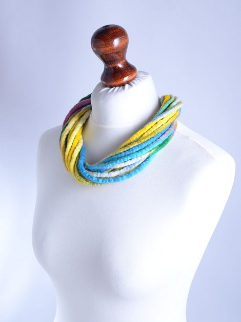 Twist multi strand necklace in pastel colors