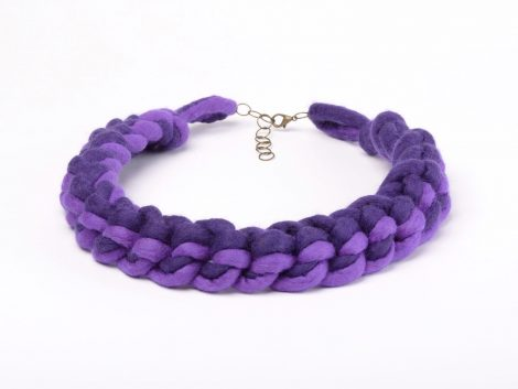 Felted crochet necklace in purpleFelted crochet necklace in purple