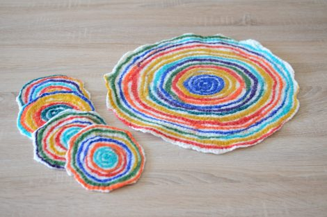 Kitchen coasters set for table and home decor