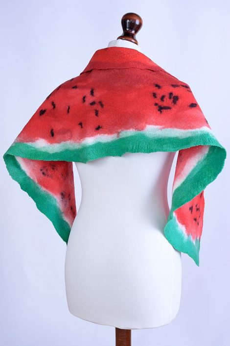 Original scarf in red and green