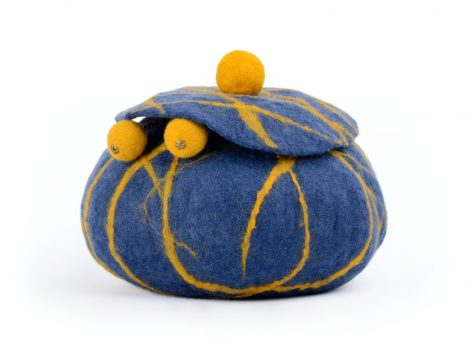 Felted jewellery holder