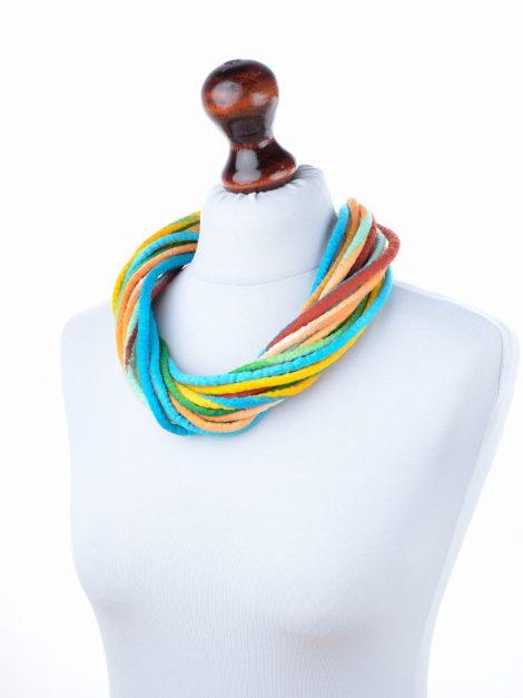 Felt statement necklace