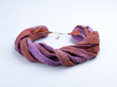 Felt tribal necklace