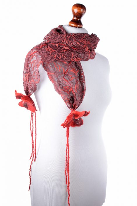 Chic lace scarf for spring and summer