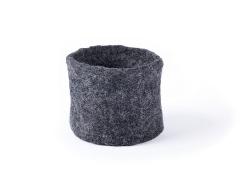 Simple felted cuff bracelet