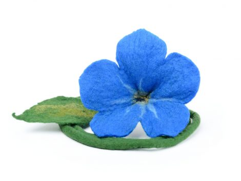 Blue forget-me-not necklace