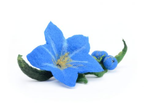 Felt forget-me-not brooch