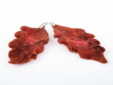 Felt earrings for autumn