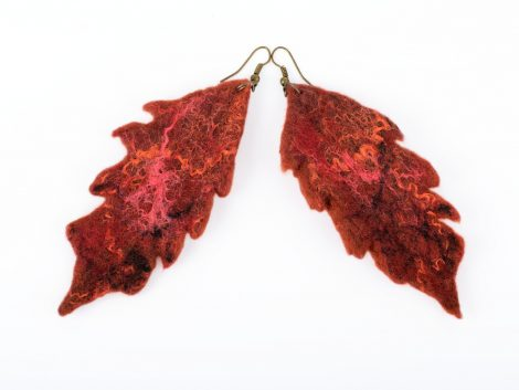 Felt earrings for fall