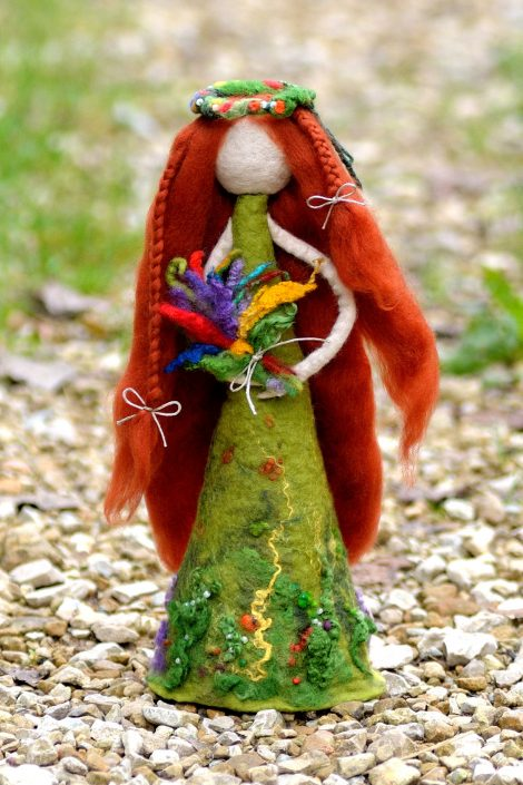 Felt figurine - forest fairy