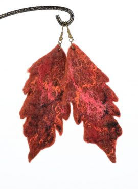 Felted earrings for fall
