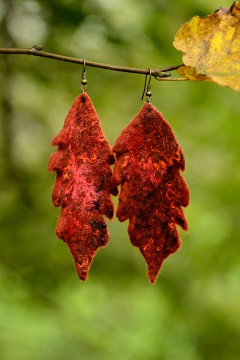 Felted fall earrings