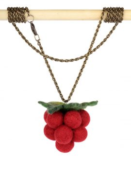 Felted raspberry pendant