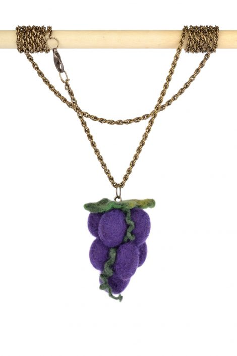 Large fruit pendant with cluster of grapes