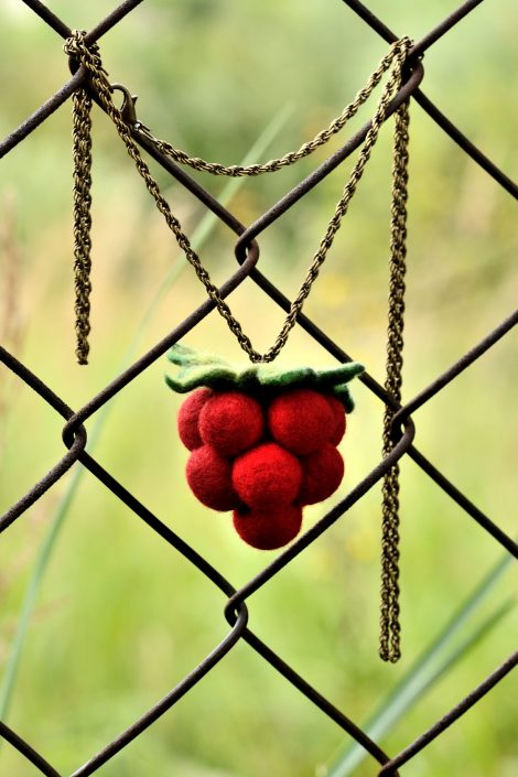 Raspberry pendant inspired by nature