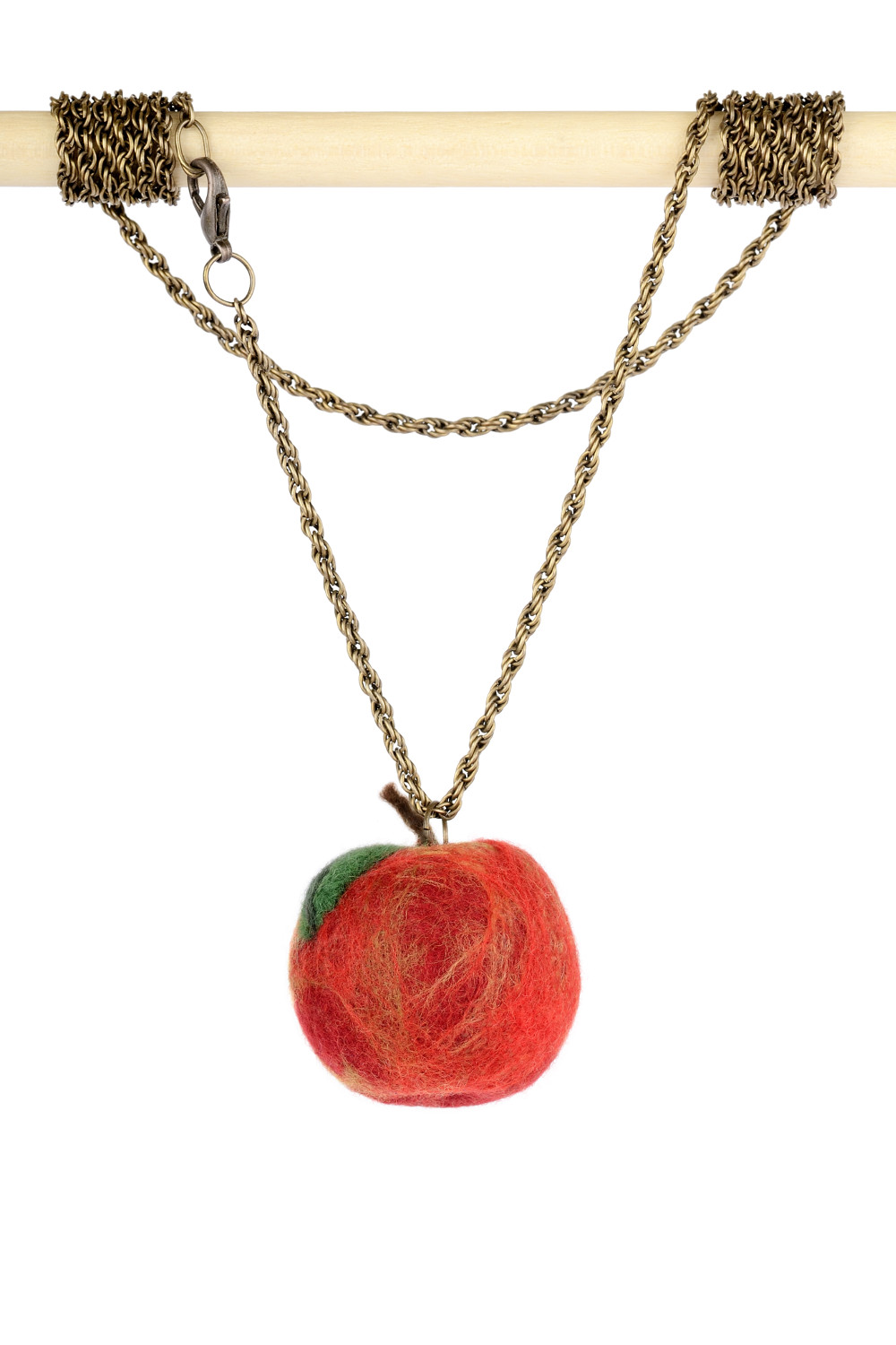 Red apple pendant on a chain once upon a time jewelry red apple pendant on a chain mozeypictures Image collections