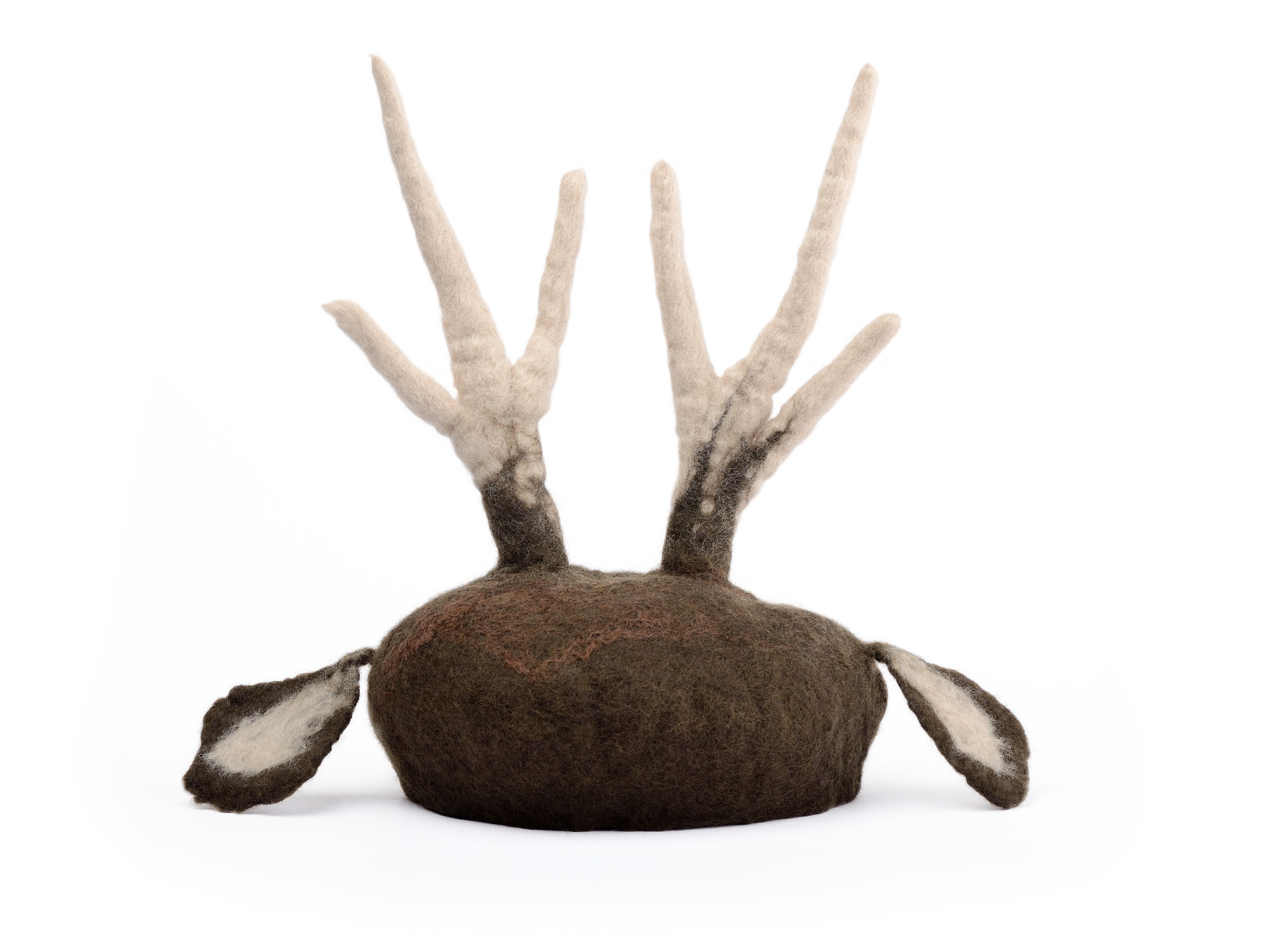 4443d0134150db Newborn Baby Photo Prop - Felted Deer Hat with Antler