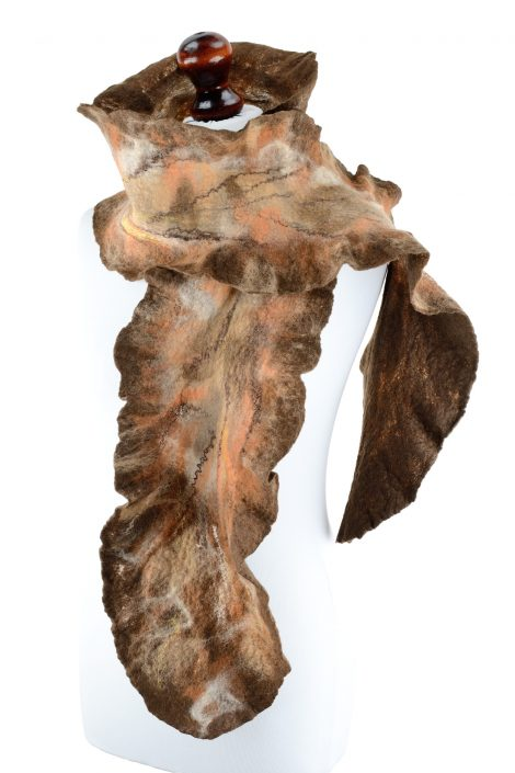 Long earth tone scarf for women made of eco friendly materials