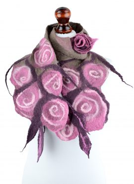 Nuno felt rose scarf for women