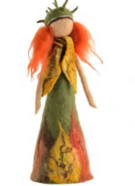 Autumn fairy figurine made in felting technique