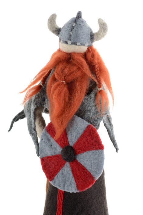 Felted viking statue for home and office