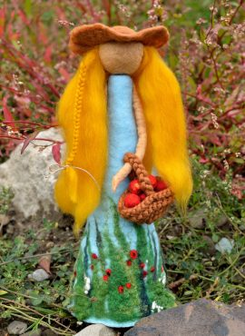 Felted summer figurine