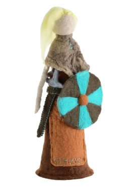 Woman warrior figurine - Lagertha the shieldmaiden