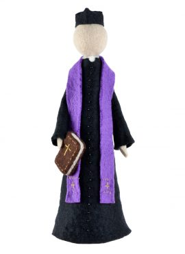Catholic priest figurine