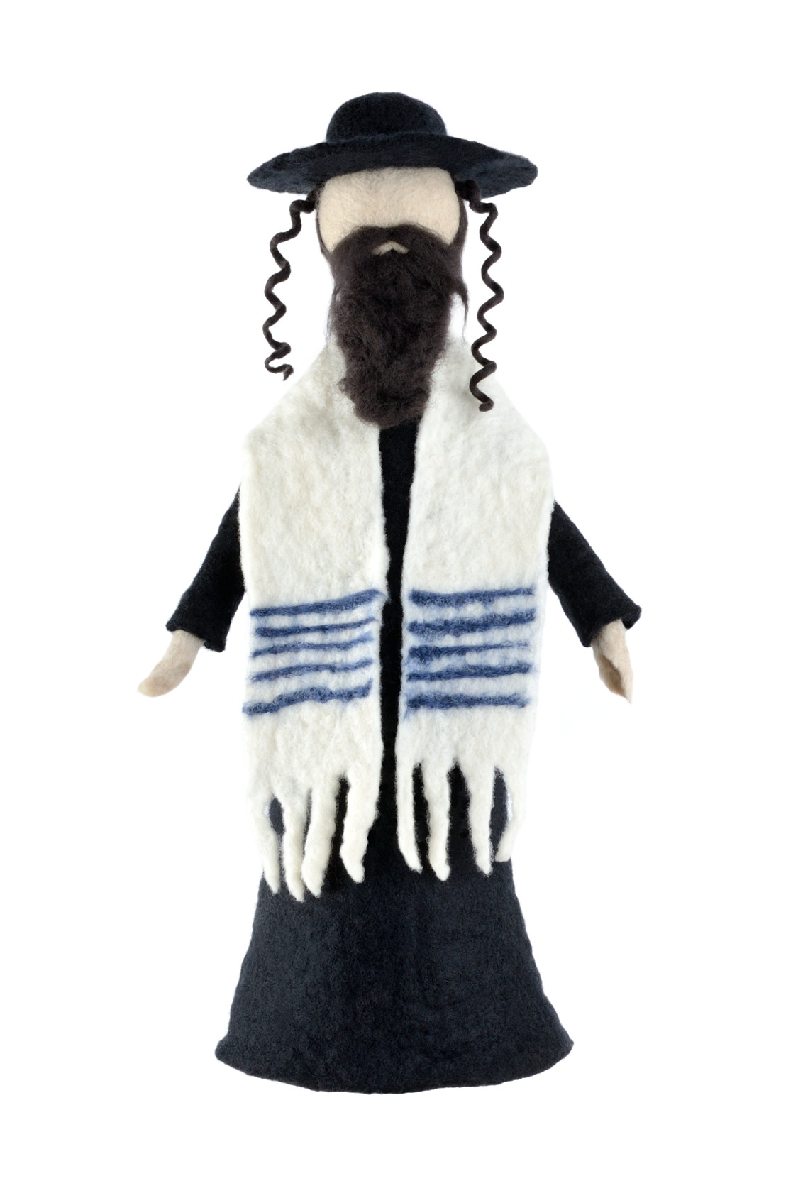 Jewish Rabbi Figurine With Tallit Amp Payot Bar Mitzvah Gift