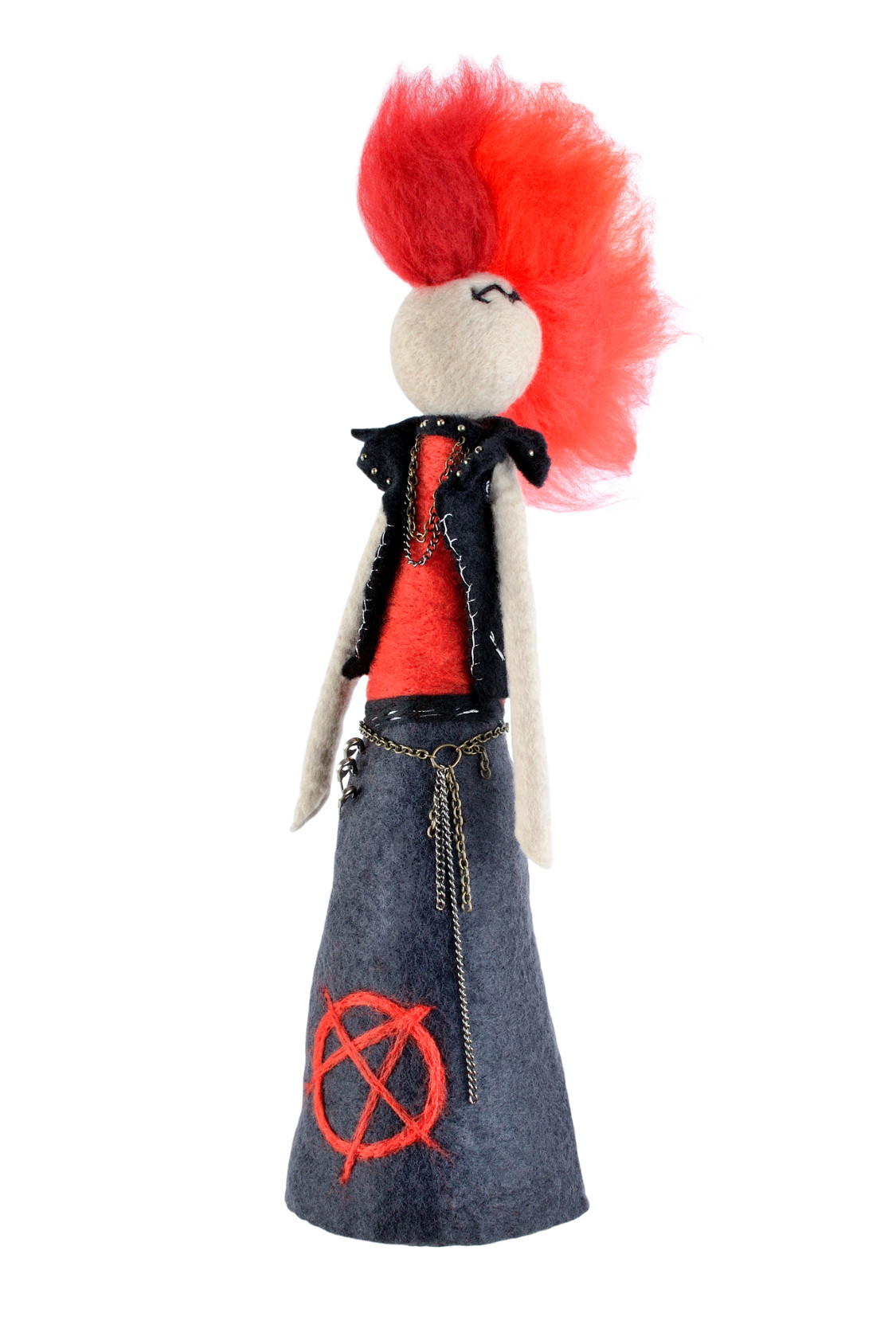 Punk Figurine With Mohawk Amp Anarchy Symbol Punk Rock Decor
