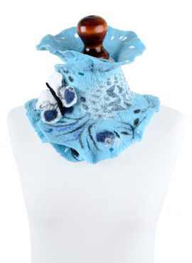 Sky blue neck warmer for women and girls