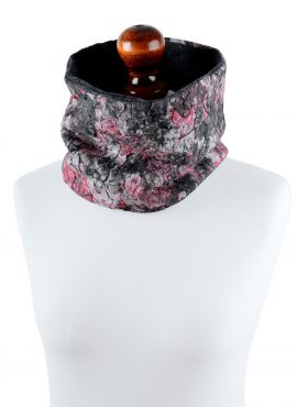 Felted tube scarf with merino wool lining