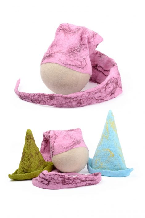 Pastel baby hats for newborn photography