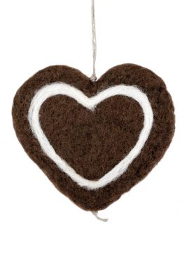 Gingerbread heart ornament for Christmas tree